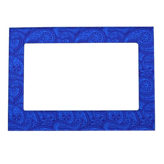 Blue Paisley Frame Magnet