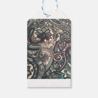 Blue Paisley Gift Wrappings Gift Tags