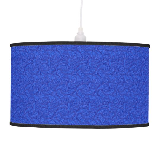 Blue Paisley Hanging Pendant Lamp