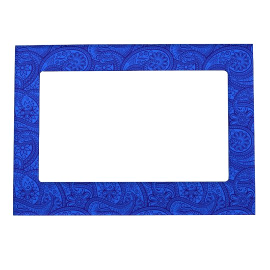Blue Paisley Magnetic Frame