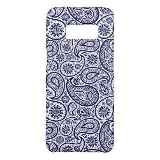 Blue Paisley Over White Background Case-Mate Samsung Galaxy S8 Case