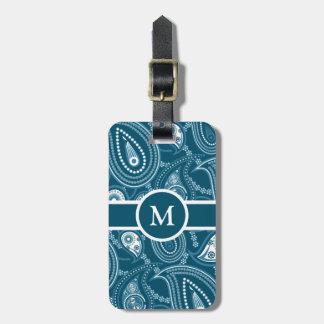 Blue Paisley Pattern Bag Tag
