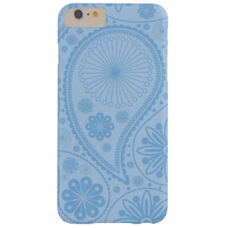 Blue paisley pattern barely there iPhone 6 plus case