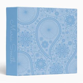 Blue paisley pattern binders