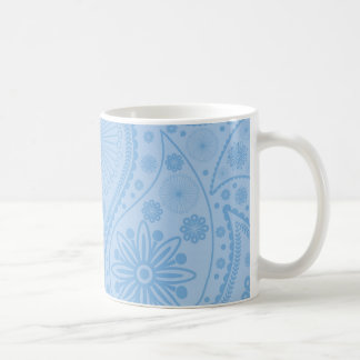 Blue paisley pattern coffee mug