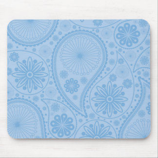 Blue paisley pattern mouse pad