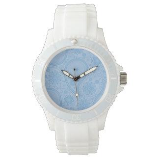 Blue paisley pattern watches