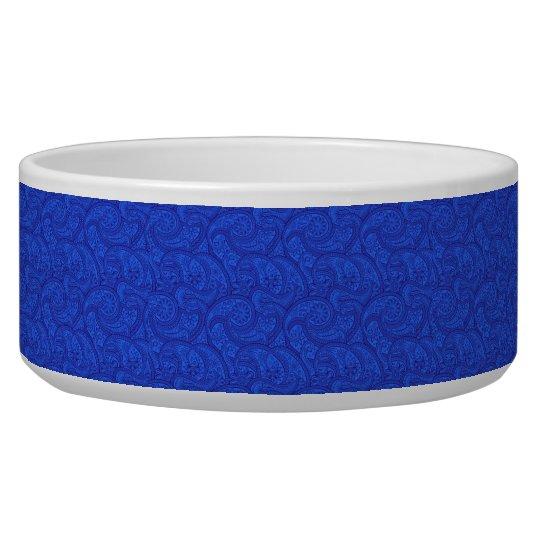 Blue Paisley Pet Water Bowl