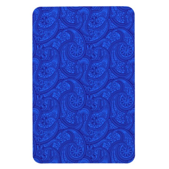 Blue Paisley Rectangular Photo Magnet
