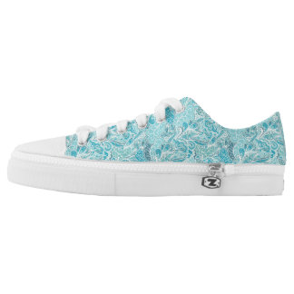 Blue Paisley Sneakers