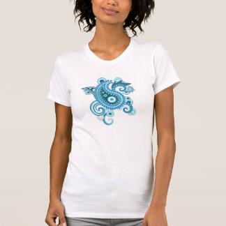 Blue paisley T-Shirt