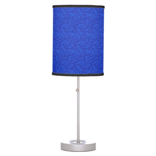 Blue Paisley Table Lamp