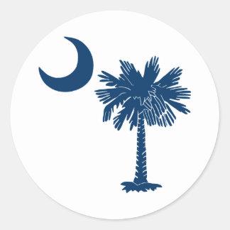 Blue Palmetto on White Sticker