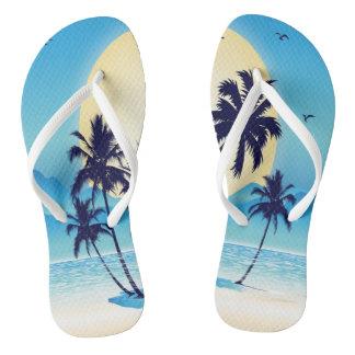 Blue Palms Flip Flops