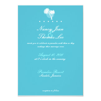 Blue Palms Wedding Invitation