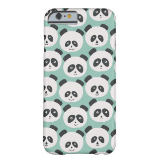 Blue Panda Bear Pattern Barely There iPhone 6 Case