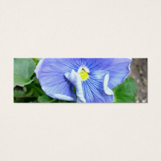Blue Pansy Bookmark Mini Business Card