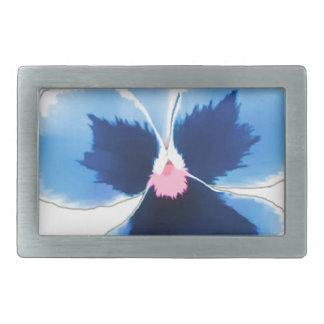 Blue Pansy Flower 201711c Belt Buckle