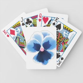 Blue Pansy Flower 201711c Bicycle Playing Cards