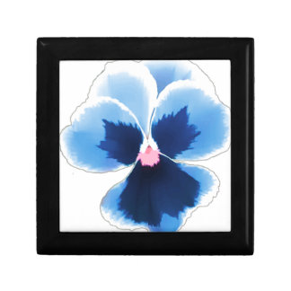 Blue Pansy Flower 201711c Gift Box