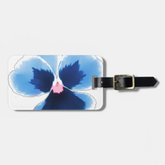 Blue Pansy Flower 201711c Luggage Tag