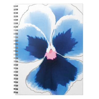 Blue Pansy Flower 201711c Notebook