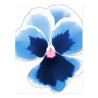 Blue Pansy Flower 201711c Postcard