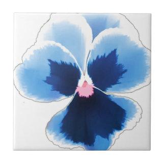 Blue Pansy Flower 201711c Tile