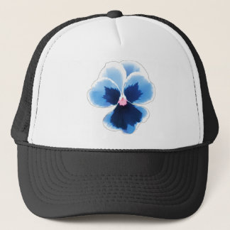 Blue Pansy Flower 201711c Trucker Hat