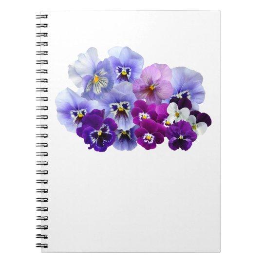 Blue Pansy Flowers Floral Spring Pansies Notebook