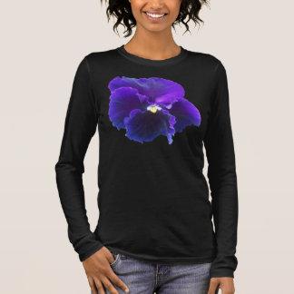blue pansy long sleeve T-Shirt