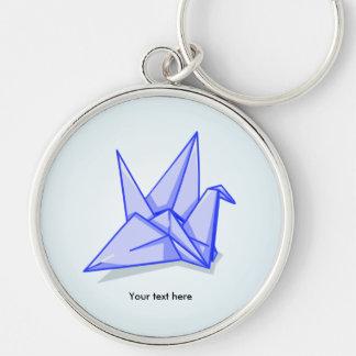 Blue Paper Crane Keychain