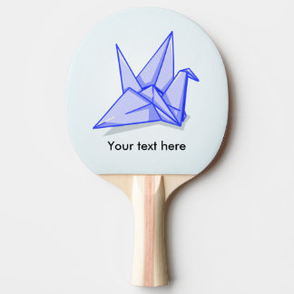 Blue Paper Crane Ping Pong Paddle