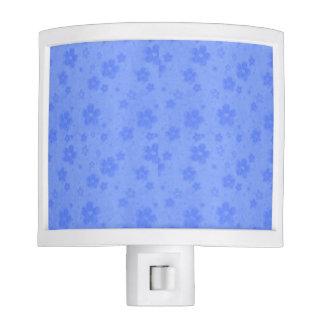 Blue paper flowers night lite