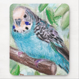 Blue Parakeet Mousepad