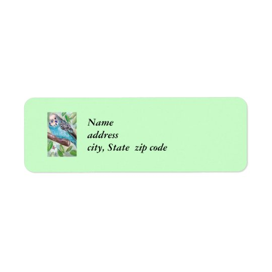 Blue Parakeet Return Address Labels