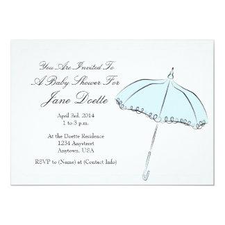 Blue Parasol Shower Card