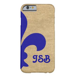 Blue Parisian Moods Fleur de Lys Monogram Barely There iPhone 6 Case