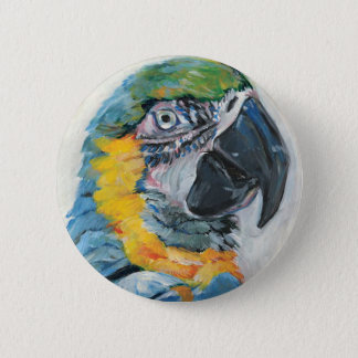 Blue Parrot 2 Inch Round Button