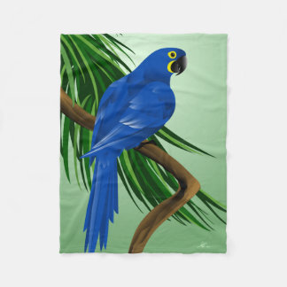 Blue Parrot Gifts Fleece Blanket