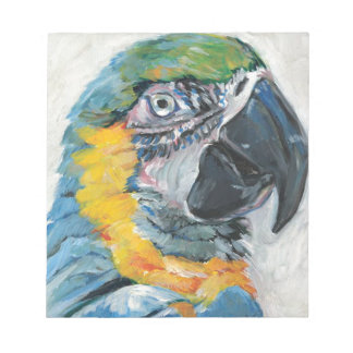 Blue Parrot Notepad