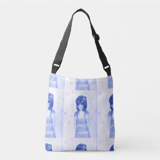 Blue Party Girl Flapper Crossbody Bag