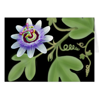 Blue Passion Flower Vine Card