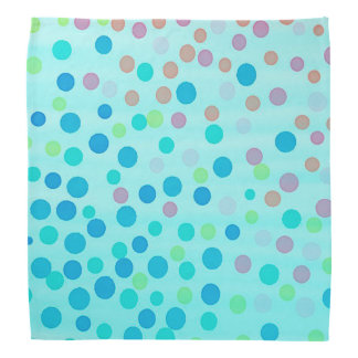 Blue pastel multicolor dots head kerchief