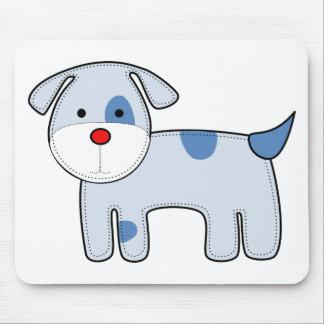 Blue Patch Puppy Mousepad