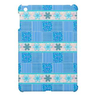 Blue patchwork iPad mini cases