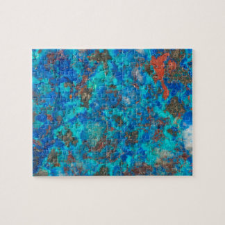 Blue patterened Shattuckite Jigsaw Puzzle