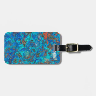 Blue patterened Shattuckite Luggage Tag
