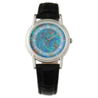 Blue patterened Shattuckite Watch