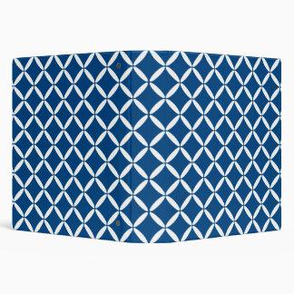 Blue Pattern Binder